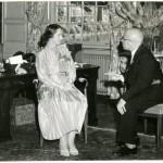 Afscheidsreceptie Kabinet der Koningin 1959, met Louis Beel
